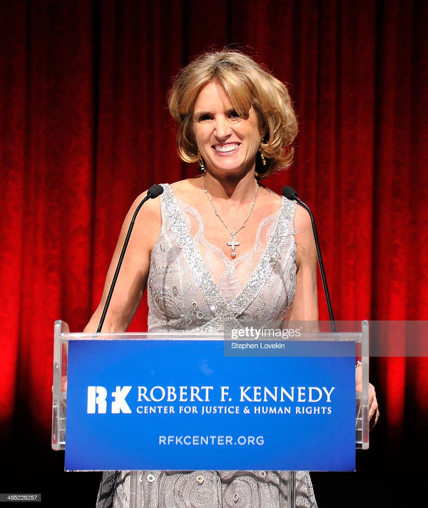 President of RFK Center <a gi-track='captionPersonalityLinkClicked' href=/galleries/search?phrase=Kerry+Kennedy&family=editorial&specificpeople=632610 ng-click='$event.stopPropagation()'>Kerry Kennedy</a> speaks onstage at Robert F. Kennedy Center For Justice And Human Rights 2013 Ripple Of Hope Awards Dinner at New York Hilton Midtown on December 11, 2013 in New York City.