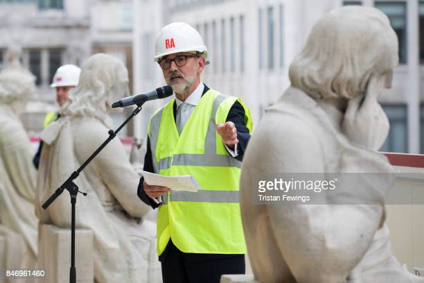 President of Royal Academy Christopher Le Brun joins Royal Academicians Cornelia Parker and Gilbert George along with Blondel Cluff of National...
