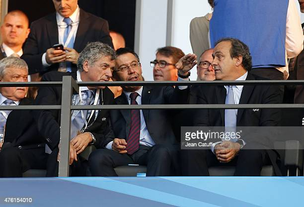President of Royal Spanish Football Federation Angel Maria Villar Llona President of FC Barcelona Josep Maria Bartomeu UEFA President Michel Platini...