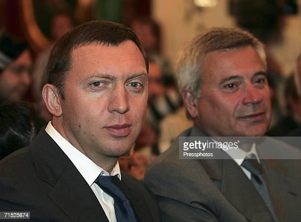 President of Russian company LUKOIL Vagit Alikperov and Oleg Deripaska Chairman of the Board of Directors of company Basic Element watch Venezuelan...