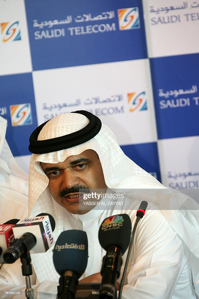 President of Saudi Telecom (STC), Saud al-Daweesh, speaks during a press conference in Kuwait City 27 November 2007. Saudi Telecom (STC), the largest Arab telecom firm, has won a 26-percent stake in Kuwait's third mobile company, expected to start operating next year, the Kuwait Investment Authority said today. STC made the highest bid of 248.7 million Kuwaiti dinars (907.6 million dollars) in a tender for the stake, said the authority which manages the investments of the oil-rich Gulf state. The deal still has to be approved by the Kuwaiti government.
