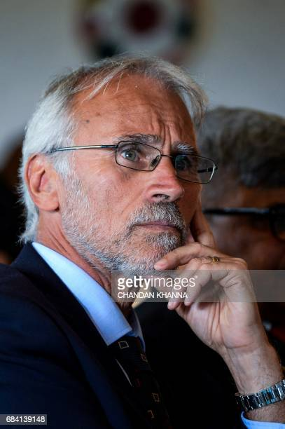 President of Scania CV India and Industrial Operations Stefan Palskog looks on during the 18th Session of IndiaSweden Joint Commission for Economic...
