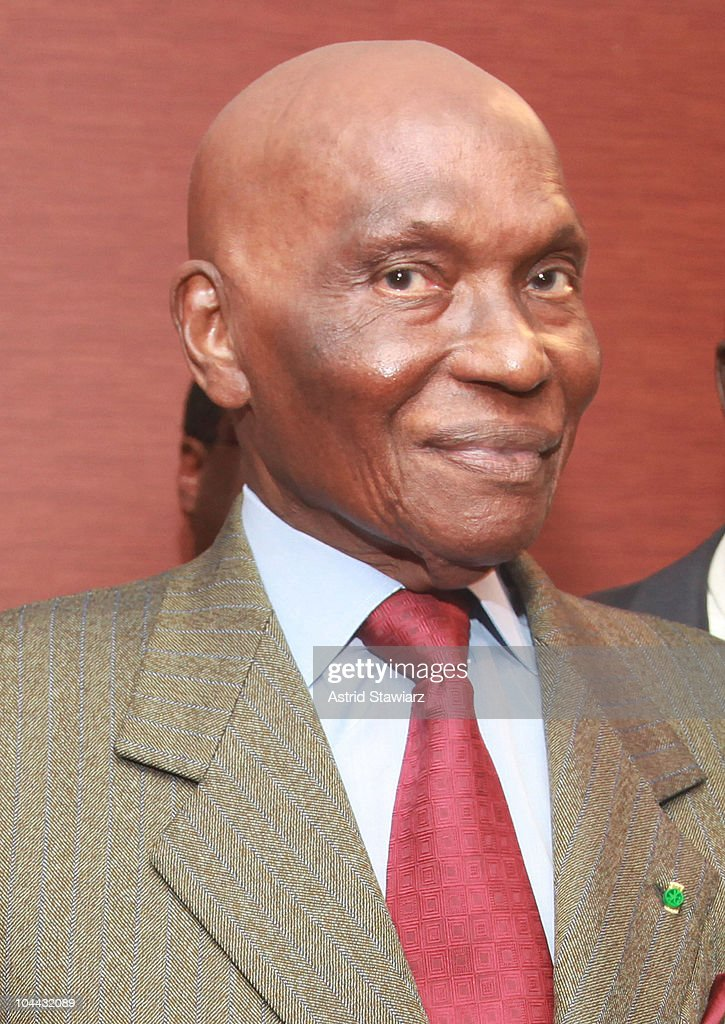 President of Senegal, <a gi-track='captionPersonalityLinkClicked' href=/galleries/search?phrase=Abdoulaye+Wade&family=editorial&specificpeople=209316 ng-click='$event.stopPropagation()'>Abdoulaye Wade</a> attends the 2010 World Festival of Black Arts and Cultures NYC press conference at the Grand Hyatt on September 24, 2010 in New York City.