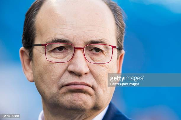President of Sevilla FC Jose Castro Carmona prior to the La Liga match between Atletico de Madrid and Sevilla FC at the Estadio Vicente Calderon on...