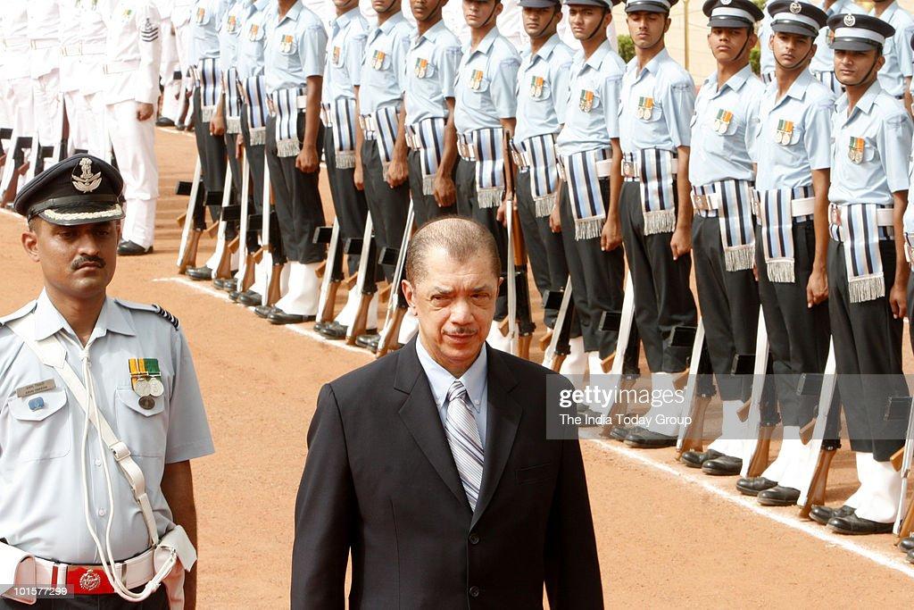 President of Seychelles James Alix Michel at the Rashtrapati Bhawan in New Delhi on Wednesday, June 2, 2010.