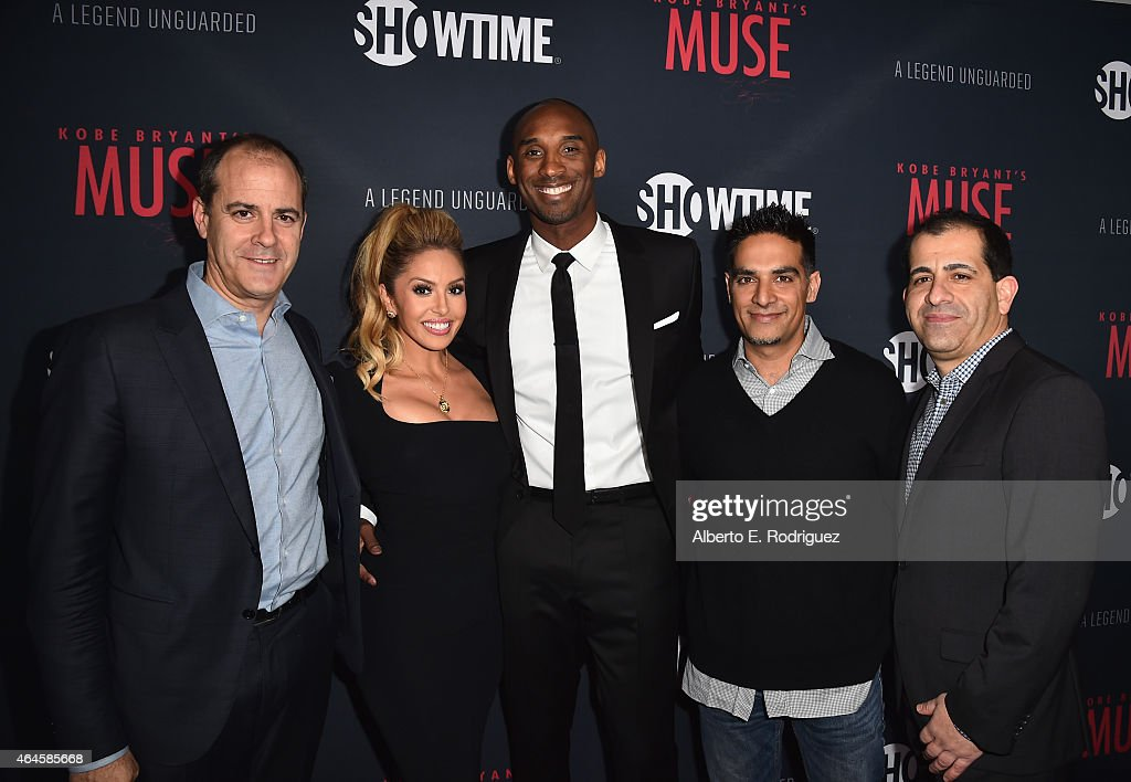 President of Showtime Networks David Nevins Vanessa Laine Bryant NBA player Kobe Bryant director Gotham Chopra and EVP GM Sports and Event...
