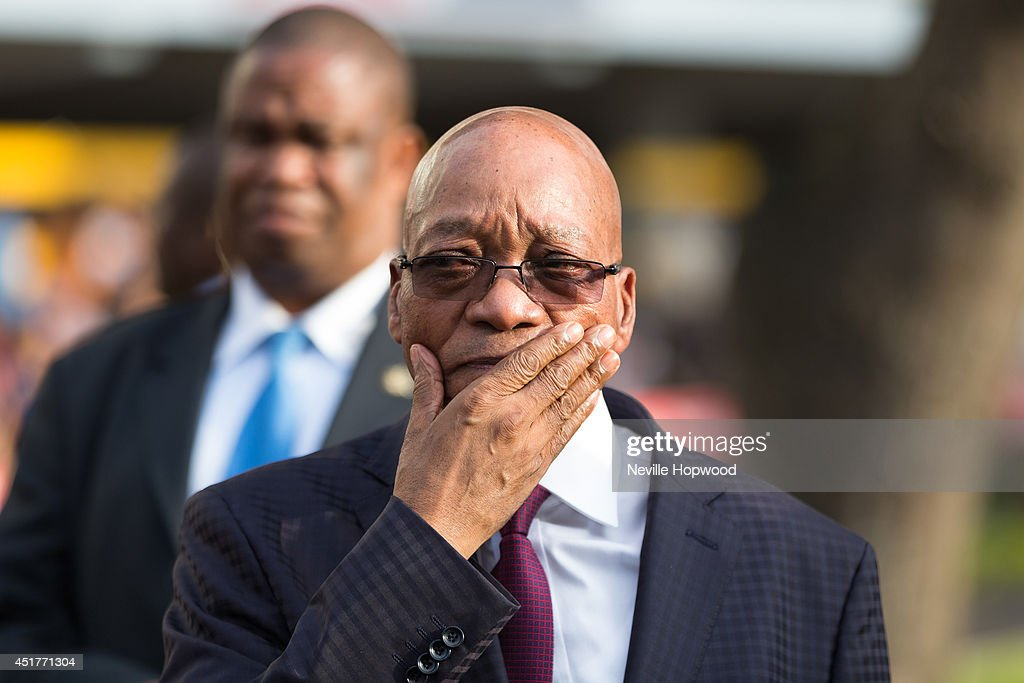 President of South Africa, Jacob Zuma, during at the 2014 Vodacom Durban July races at Greyville Racecourse on July 5, 2014 in Durban, South Africa.