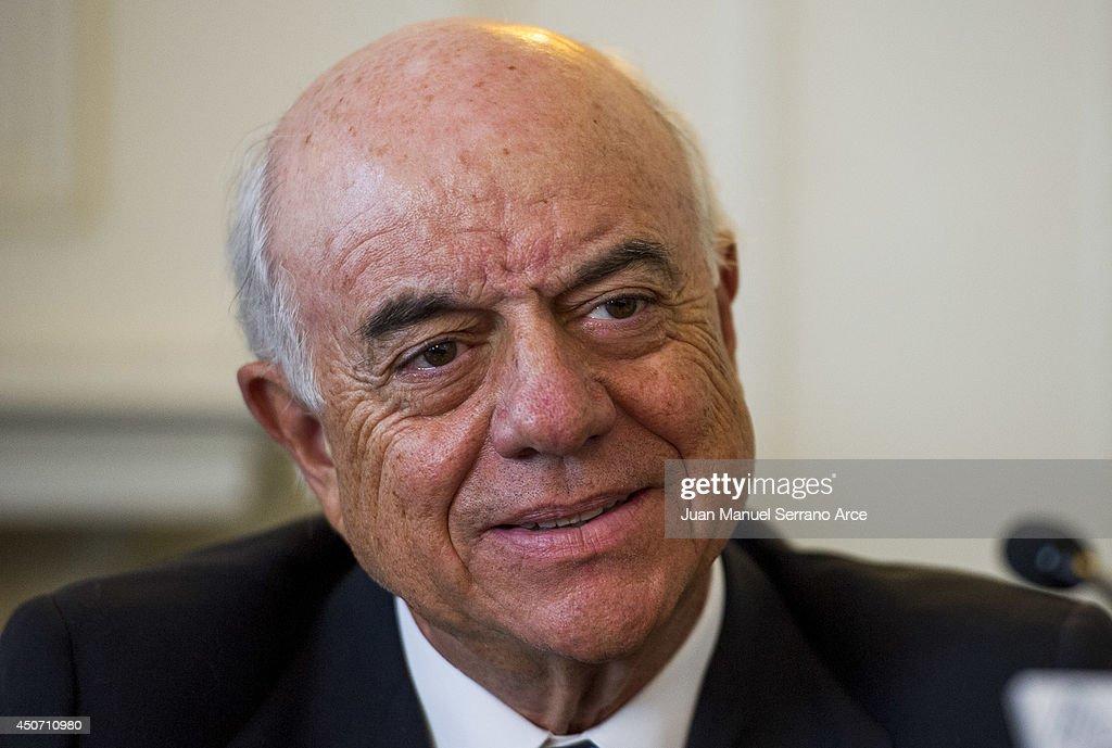 President of Spanish bank BBVA Francisco Gonzalez attend at the International Menendez Pelayo University on June 16 2014 in Santander Spain