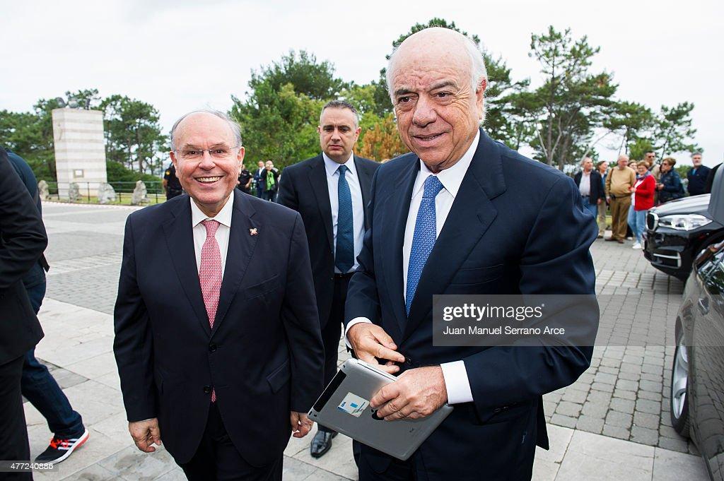 President of Spanish bank BBVA Francisco Gonzalez attend at the International Menendez Pelayo University on June 15 2015 in Santander Spain