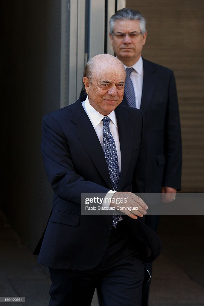 President of Spanish bank BBVA Francisco Gonzalez leaves court on May 24 2013 in Madrid Spain Spain's National Court has called the chairmen of three...