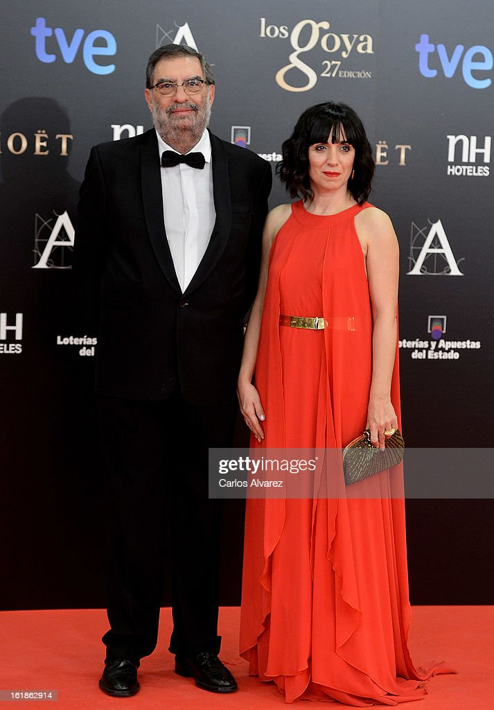 President of Spanish Cinema Academy, Enrique Gonzalez Macho, and Vicepresident of the Spanish Cinema Academy, Judith Colell, attends Goya Cinema Awards 2013 at Centro de Congresos Principe Felipe on February 17, 2013 in Madrid, Spain.