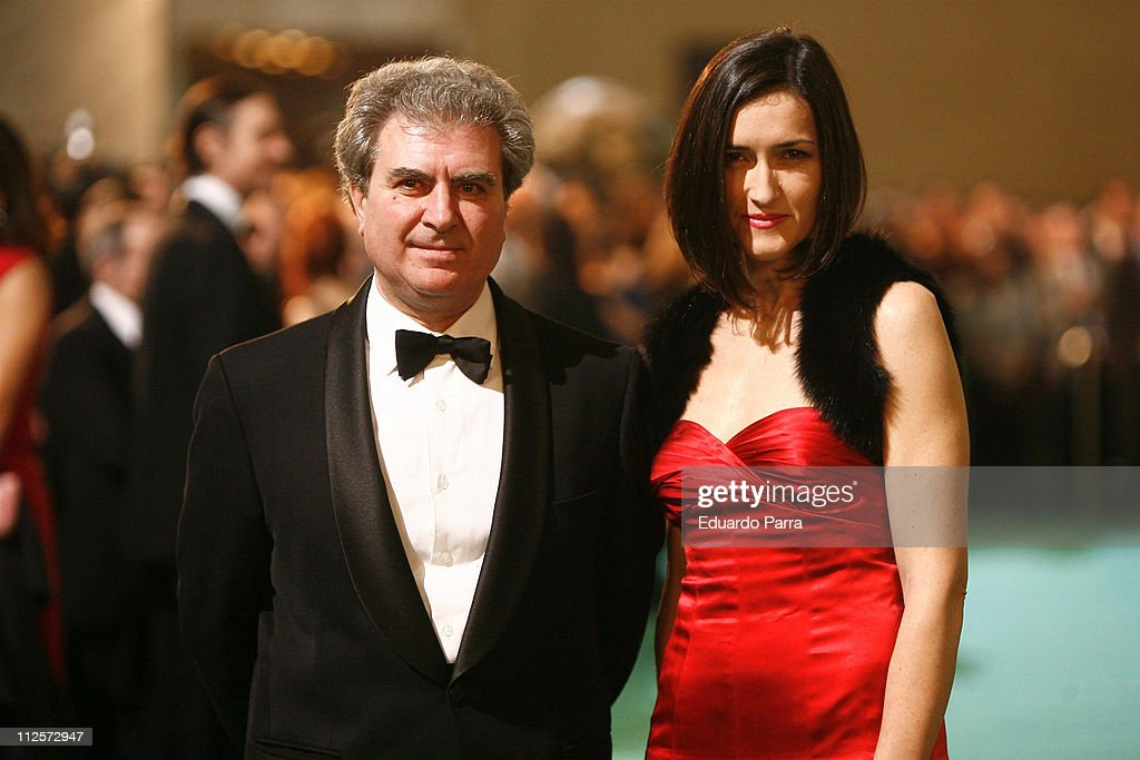 President of Spanish film Academy Angeles Gonzalez Sinde and the Minister of culture Cesar Antonio Molina attend the Goya 2008 Cinema Awards Ceremony...