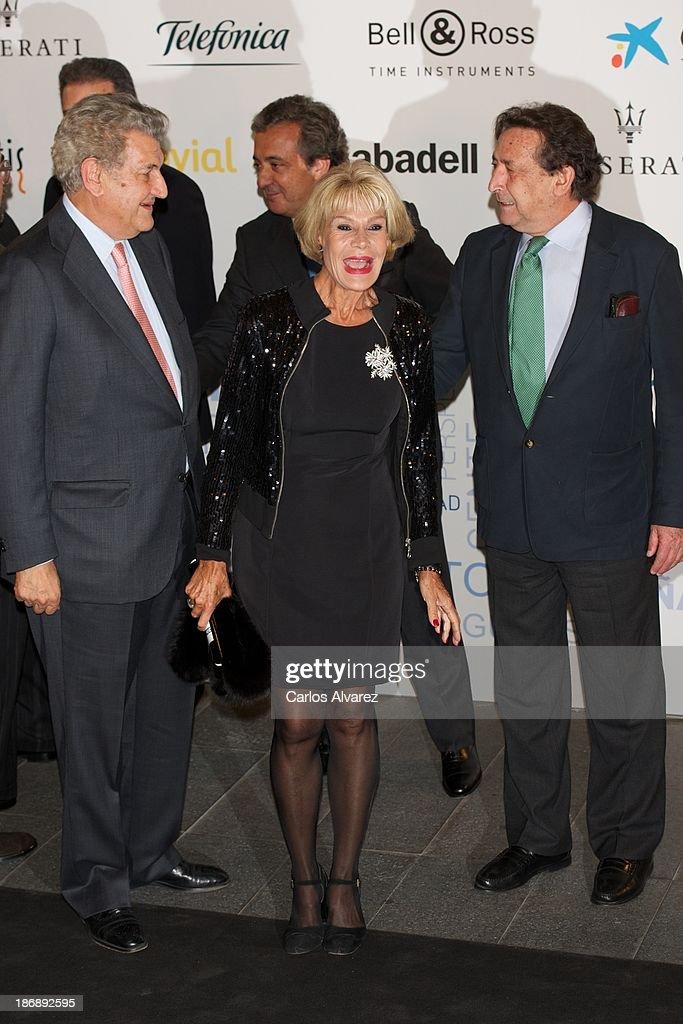 President of Spanish Parliament Jesus Posada, Rosa Valenty and Alfonso Ussia attend 'La Razon' Newspaper 15th Anniversary on November 4, 2013 in Madrid, Spain.
