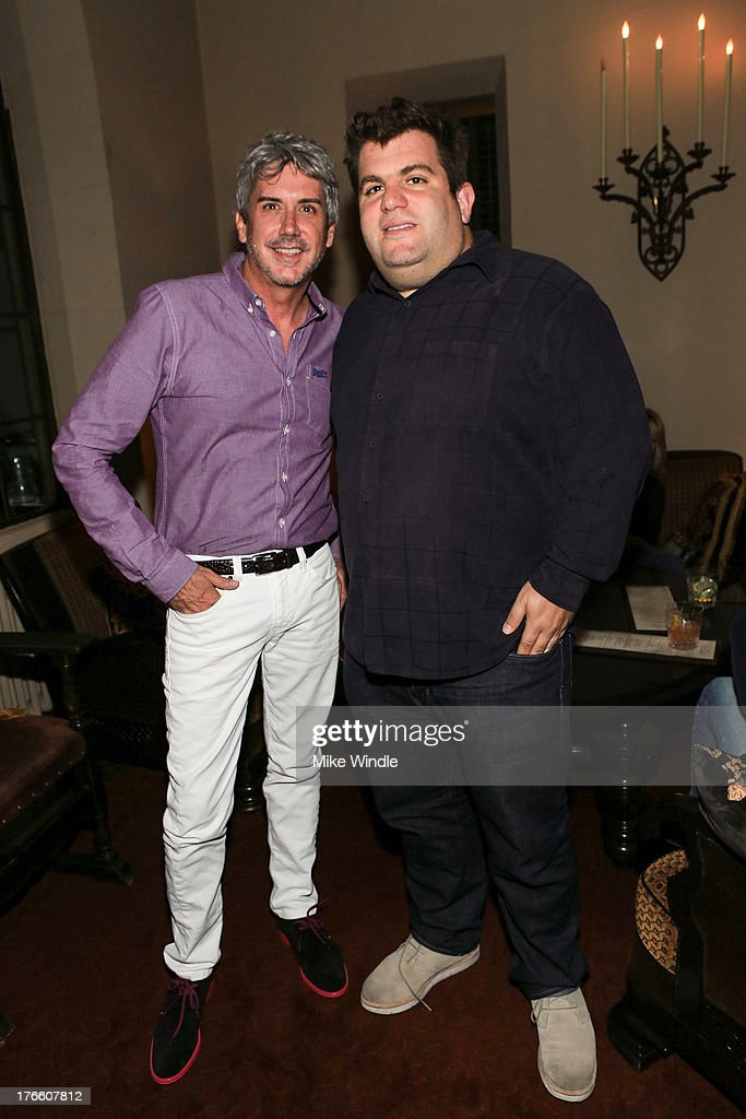 President of Superdry North America Stephen Cox (L) and Jeff Miller attend the SUPERDRY intimate dinner in celebration of the brand's Autumn/Winter 2013 Collection at Chateau Marmont on August 15, 2013 in Los Angeles, California.