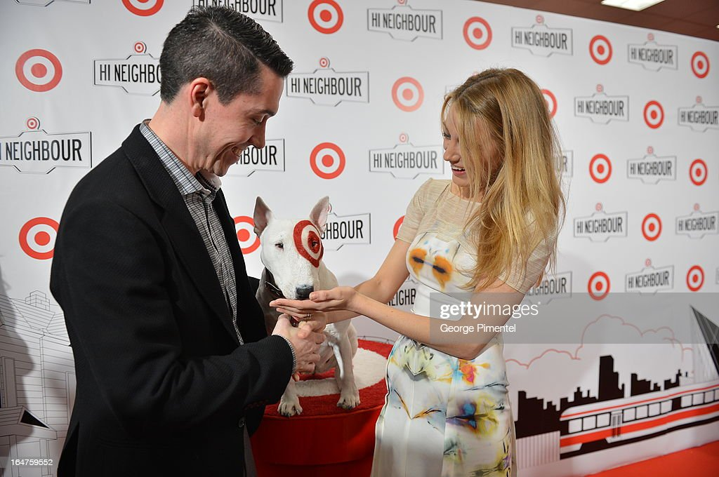 President of Target Canada <a gi-track='captionPersonalityLinkClicked' href=/galleries/search?phrase=Tony+Fisher&family=editorial&specificpeople=213031 ng-click='$event.stopPropagation()'>Tony Fisher</a> and actress <a gi-track='captionPersonalityLinkClicked' href=/galleries/search?phrase=Blake+Lively&family=editorial&specificpeople=221673 ng-click='$event.stopPropagation()'>Blake Lively</a> attend the opening of Target At Shoppers World Danforth on March 27, 2013 in Toronto, Canada.