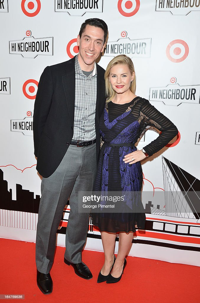 President of Target Canada <a gi-track='captionPersonalityLinkClicked' href=/galleries/search?phrase=Tony+Fisher&family=editorial&specificpeople=213031 ng-click='$event.stopPropagation()'>Tony Fisher</a> and actress <a gi-track='captionPersonalityLinkClicked' href=/galleries/search?phrase=Elisha+Cuthbert&family=editorial&specificpeople=201881 ng-click='$event.stopPropagation()'>Elisha Cuthbert</a> attend the opening of Target at Shoppers World Danforth on March 27, 2013 in Toronto, Canada.