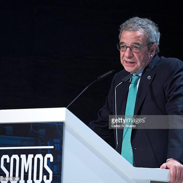 President of Telefonica Foundation Cesar Alierta attends 'Todos Somos Estudiantes' Movistar awards at the Telefonica Auditorium on June 15 2016 in...