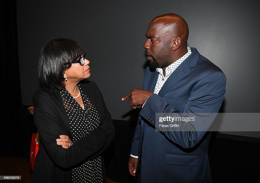 President of the Academy of Motion Picture Arts and Sciences Cheryl Boone Isaacs and actor Omar Dorsey attend 2016 BronzeLens Film Festival OWN's...