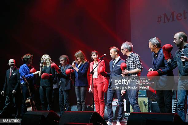 President of the Association for Alzheimer Research Doctor Olivier de Ladoucette Gael Faure Sandrine Kiberlain Alain Souchon Carla Bruni Sarkozy...