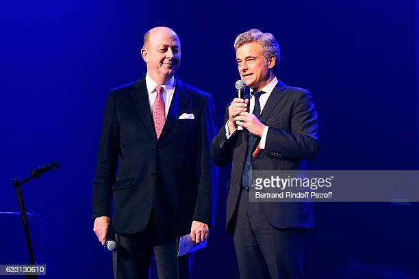 President of the Association for Alzheimer Research Doctor Olivier de Ladoucette and Philippe Oddo attend the Charity Gala against Alzheimer's...