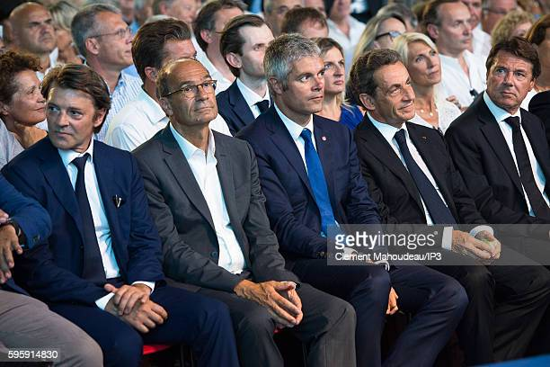President of the Association of Mayors of France Francois Baroin former Minister Eric Woerth President of the Auvergne Rhone Alpes Region Laurent...