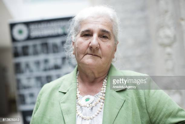 President of the Association of the Mothers of Srebrenica and Zepa Enclaves Munira Subasic attends a commemoration ceremony to mark the 22nd...