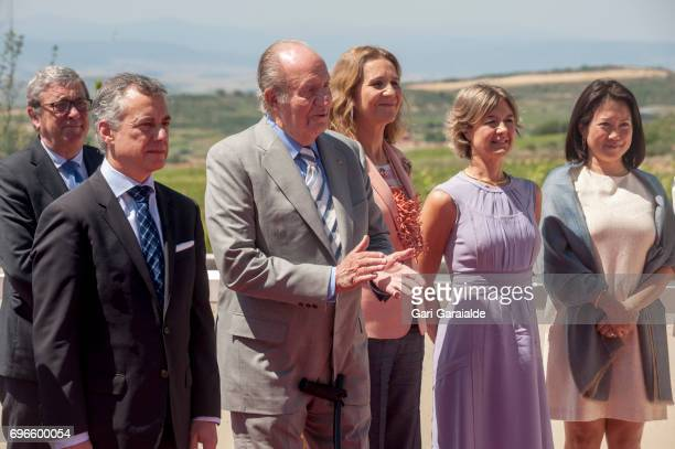 President of the Basque regional government Inigo Urkullu King Juan Carlos Princess Elena of Spain and Spain's Agriculture minister Isabel Garcia...