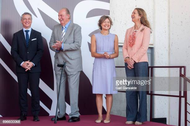 President of the Basque regional government Inigo Urkullu King Juan Carlos Spain's Agriculture minister Isabel Garcia Tejerina and Princess Elena of...