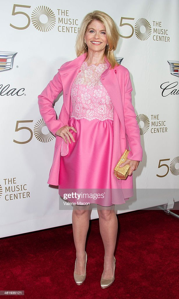President of The Blue Ribbon Carla Sands arrives at The Music Center's 50th Anniversary Launch Party at Dorothy Chandler Pavilion on April 1, 2014 in Los Angeles, California.