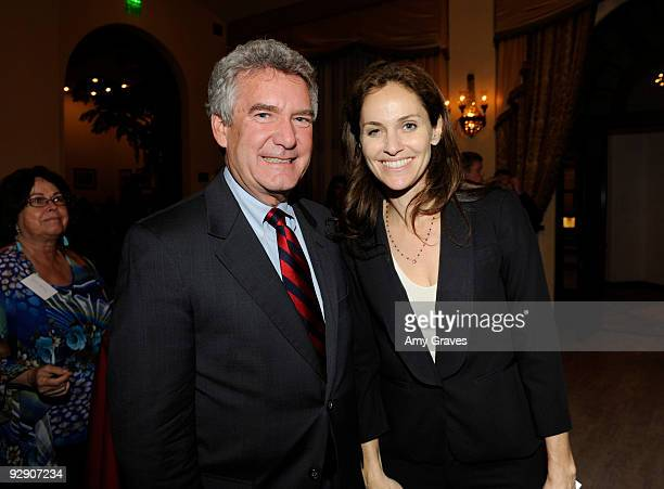 President of the Brady Center to Prevent Gun Violence Paul Helmke and actress Amy Brenneman attend the 2009 Brady Center to Prevent Gun Violence...