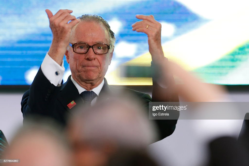 President of the Brazilian Olympic Committee Carlos Nuzman attends a ceremony where the pyre and the Olympic torch are lit to start the relay at the Planalto Palace on May 3, 2016 in Brasilia, Brazil. The Olympic torch will pass through 329 cities from all states in Brazil before arriving in Rio de Janeiro on August 5, for the lighting of the cauldron.