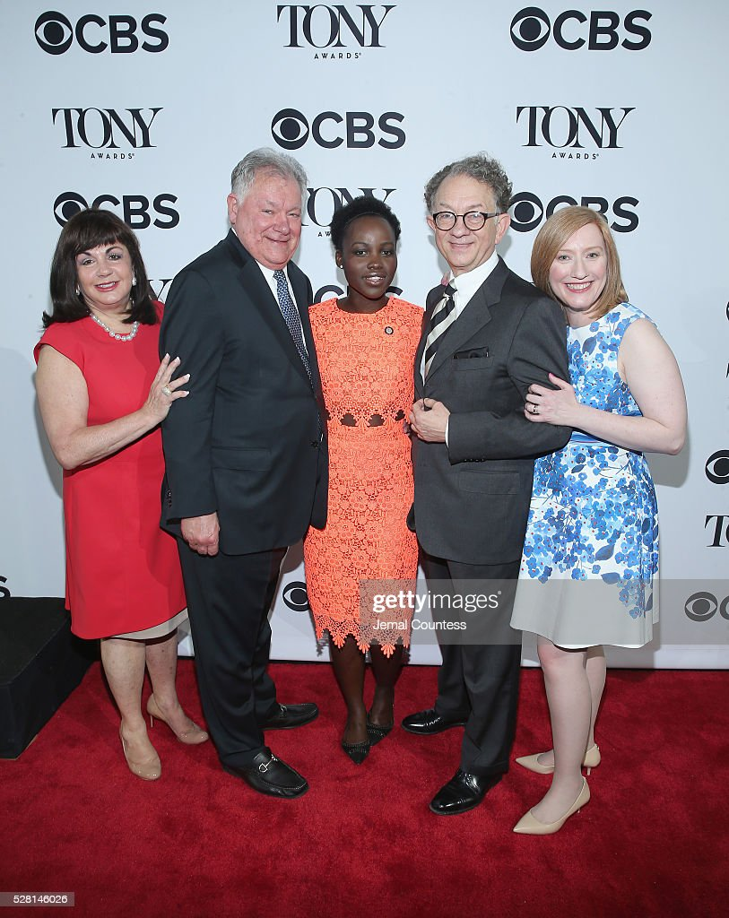 President of The Broadway League <a gi-track='captionPersonalityLinkClicked' href=/galleries/search?phrase=Charlotte+St.+Martin&family=editorial&specificpeople=3987977 ng-click='$event.stopPropagation()'>Charlotte St. Martin</a>, Chairman of the Broadway League Robert Wankel, Actress <a gi-track='captionPersonalityLinkClicked' href=/galleries/search?phrase=Lupita+Nyong%27o&family=editorial&specificpeople=10961876 ng-click='$event.stopPropagation()'>Lupita Nyong'o</a>, Chairman of the Board for the American Theatre Wing <a gi-track='captionPersonalityLinkClicked' href=/galleries/search?phrase=William+Ivey+Long&family=editorial&specificpeople=1794786 ng-click='$event.stopPropagation()'>William Ivey Long</a>, and President of the American Theatre Wing Heather Hitchens attend the 2016 Tony Awards Meet The Nominees Press Reception on May 4, 2016 in New York City.