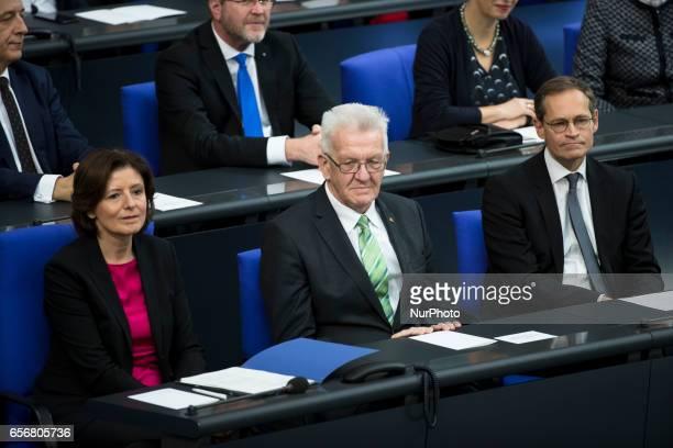 President of the Bundesrat and prime minister of RhinelandPalatinate Malu Dreyer prime minister of BadenWuerttemberg Winfried Kretschmann and...