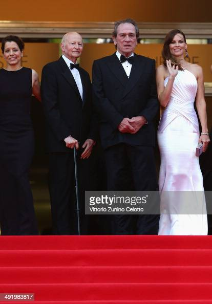 President of the Cannes Film Festival Gilles Jacob Director Tommy Lee Jones and actress Hilary Swank attend 'The Homesman' premiere during the 67th...