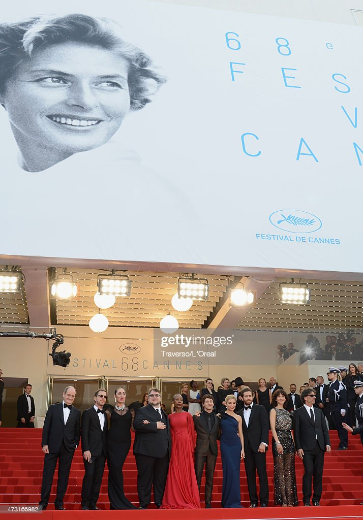 President of the Cannes Film Festival Pierre Lescure and jury members Ethan Coen Rossy de Palma Guillermo del Toro Rokia Traore Xavier Dolan Sienna...