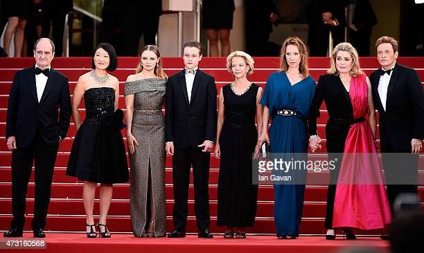 President of the Cannes Film Festival Pierre Lescure politician Fleur Pellerin actress Sara Forestier actor Rod Paradot politician Frederique Bredin...