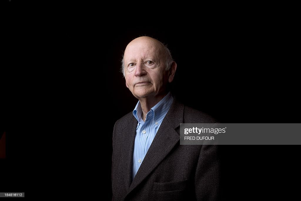 President of the Cannes International Film Festival Gilles Jacob poses on October 21, 2012 in Paris, during the Cite de la Reussite.