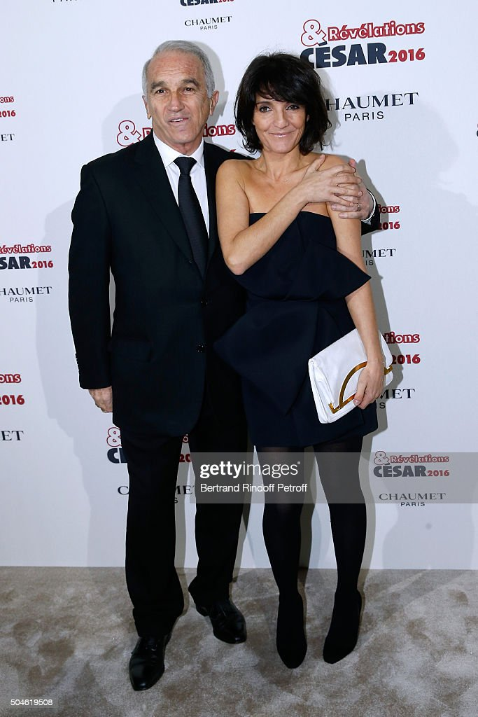President of the 'Cesar', the French Academy Awards <a gi-track='captionPersonalityLinkClicked' href=/galleries/search?phrase=Alain+Terzian&family=editorial&specificpeople=2455092 ng-click='$event.stopPropagation()'>Alain Terzian</a> and 'Cesar Host' <a gi-track='captionPersonalityLinkClicked' href=/galleries/search?phrase=Florence+Foresti&family=editorial&specificpeople=4946831 ng-click='$event.stopPropagation()'>Florence Foresti</a> attend the 'Cesar - Revelations 2016' Photocall at Chaumet, followed by a dinner at Hotel Meurice on January 11, 2016 in Paris, France.