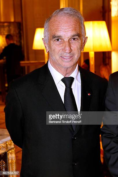 President of the 'Cesar' the French Academy awards Alain Terzian at the Chaumet's Cocktail Party for Cesar's Revelations 2014 at Musee Chaumet...