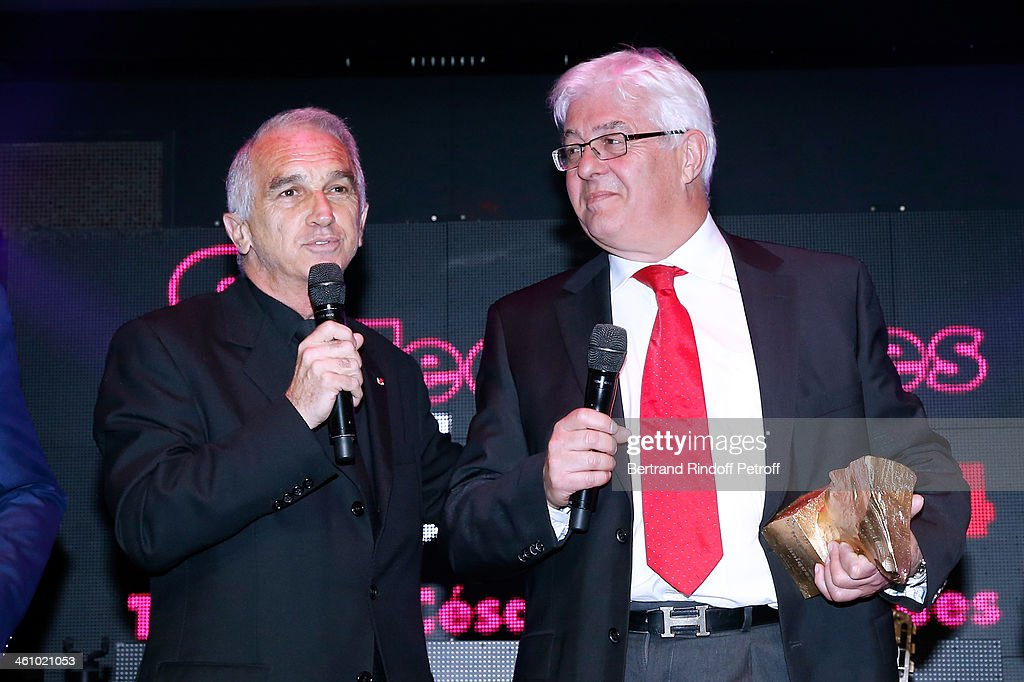 President of the 'Cesar', the French Academy Awards Alain Terzian with CEO of Transpalux and awarded Didier Diaz attend 'Cesar et Techniques 2014' Award Ceremony at Club Haussmann on January 6, 2014 in Paris, France.