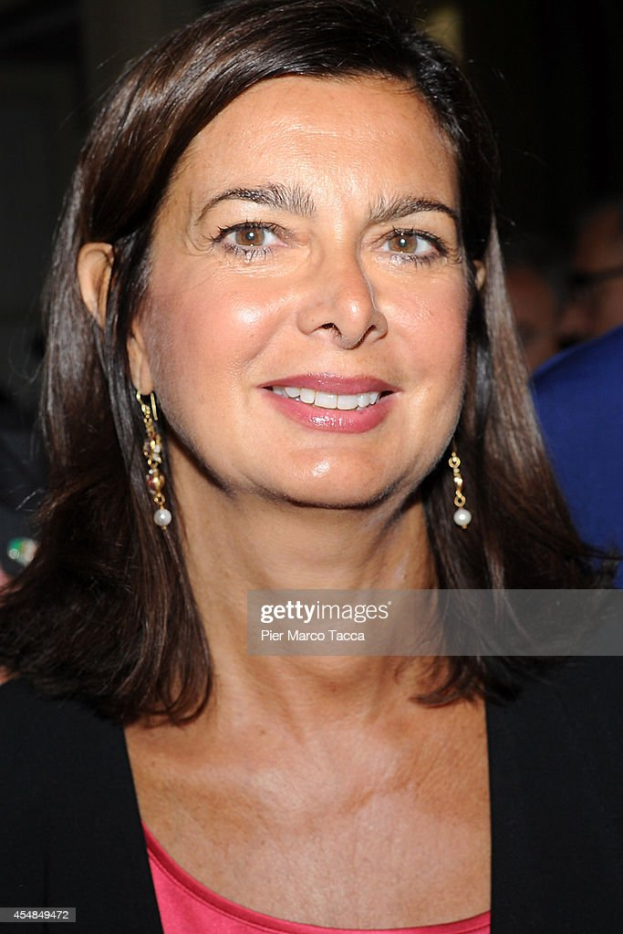 President of the Chamber of Deputies <a gi-track='captionPersonalityLinkClicked' href=/galleries/search?phrase=Laura+Boldrini&family=editorial&specificpeople=4364882 ng-click='$event.stopPropagation()'>Laura Boldrini</a> attends the Ambrosetti International Economy Forum at Villa d'Este Hotel on September 7, 2014 in Como, Italy. 'Intelligence on the World, Europe and Italy' is the title of the workshop of the 40th edition of Ambrosetti International Economy Forum the intent of the workshop is to offer Italian and International decision-makers the opportunity for serious, high-level examination with the support of studies and statistics of geopolitical, economic, technological and social scenarios and their implication for business.