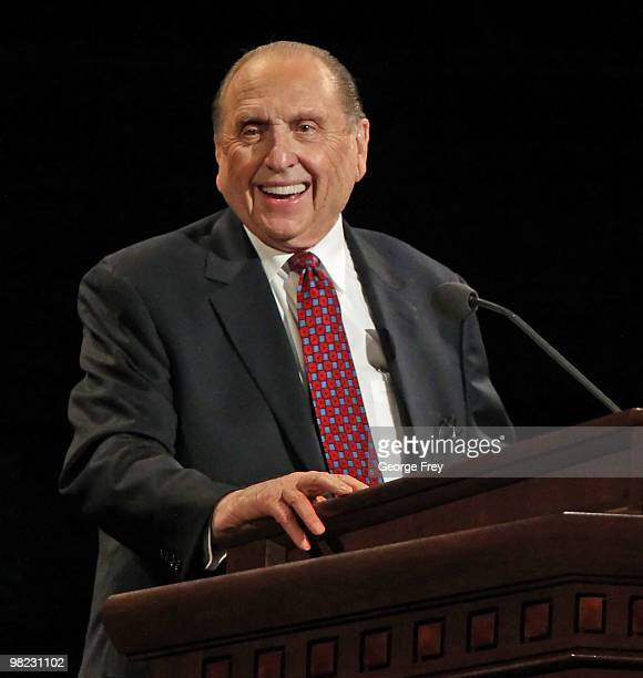 President of the Church of Jesus Christ of LatterDay Saints Thomas Monson gives the opening talk at the 180th Annual General Conference of the church...