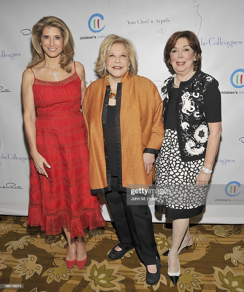 President of The Colleagues Alexandra Dwek, Honoree Wallis Annenberg and Ann Johnson attend the 25th annual Colleagues Luncheon at the Beverly Wilshire Hotel on April 9, 2013 in Beverly Hills, California.