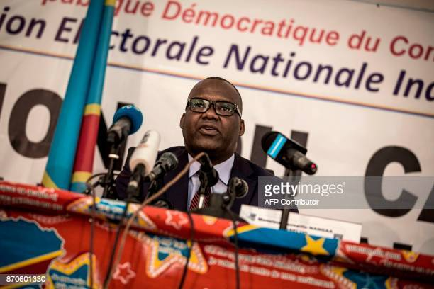 President of the Commission Electorale Nationale Independante Corneille Nangaa announces the new electorial calendar for December 2018 presidential...
