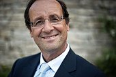 President of the Correze General Council and candidate for the French Socialist Party 2012 primary elections Francois Hollande poses in Besancon...