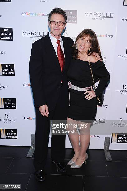 President of the Creative Coalition Tim Daly and CEO of The Creative Coalition Robin Bronk attend the Creative Coalition's spotlight awards dinner...