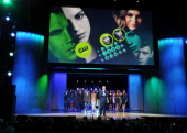 President of The CW Television Network Mark Pedowitz speaks on stage at the CW Network's 2013 Upfront at New York City Center on May 16 2013 in New...