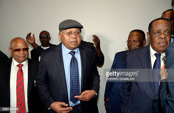 President of the Democratic Republic of Congo opposition party Union for Democracy and Social Progress Etienne Tshisekedi with brother of Moise...