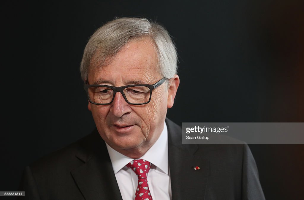 President of the European Commission <a gi-track='captionPersonalityLinkClicked' href=/galleries/search?phrase=Jean-Claude+Juncker&family=editorial&specificpeople=207032 ng-click='$event.stopPropagation()'>Jean-Claude Juncker</a> attends the inauguration of the Verdun Memorial during ceremonies to commemorate the 100th anniversary of the World War I Battle of Verdun on May 29, 2016 near Verdun, France. The 1916, 10-month battle pitted the French and German armies against one another in a grueling campaign of trench warfare and artillery bombardments that killed a total of approximately 300,000 soldiers. The events today coincide with the 50th anniversary of commemorations held at Verdun by then French President Charles de Gaulle and German Chancellor Konrad Adenauer that paved the way for a new era of peaceful, post-war Franco-German relations.