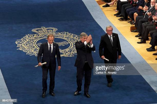 President of the European Commission JeanClaude Juncker President of the European Parliament Antonio Tajani and President of the European Council...